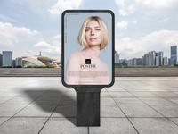 Modern Outdoor Advertisement Poster Mockup Free