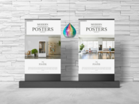 Modern Advertisement Posters Mockup Free