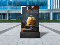 Outdoor Promotion Billboard Poster Mockup Free