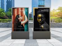 Modern Outdoor Billboard Poster Mockup Free