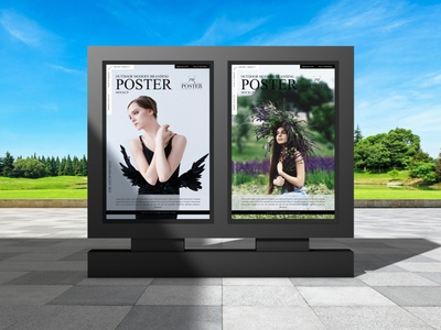 Outdoor Modern Branding Poster Mockup Free