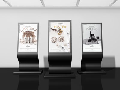 Modern Expo Display Stand Poster Mockup Free