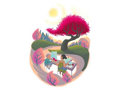 Pinot's Palette / Share Joy advert advertisment digital painting digital art illustrator illustration digital illustration