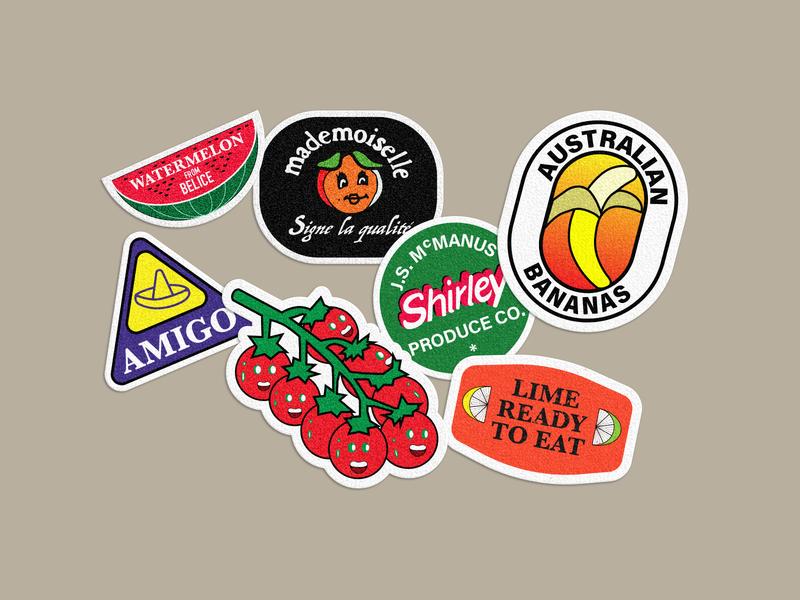 Illustration sticker of fruit