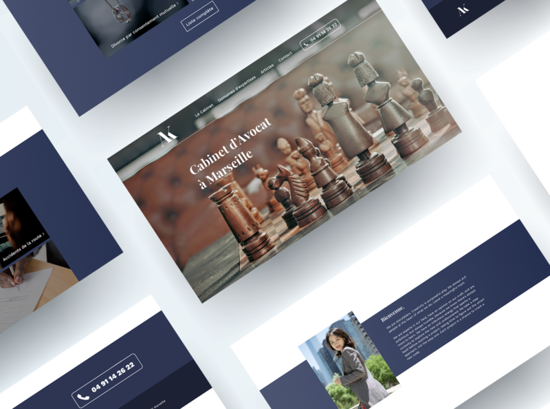 Wireframe Lawyer Website avocat lawyer design site ui