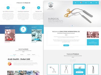 Medical Instruments Web App app web medical instruments dental surgical ui ux