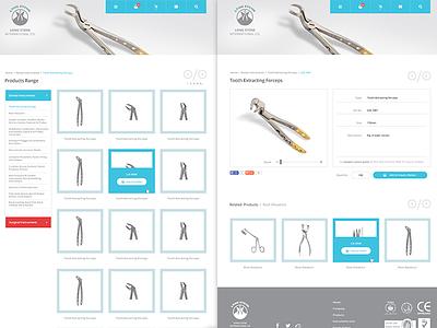 Medical Instruments - Next Pages care health instruments medical app dental web surgical ux ui