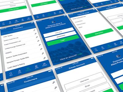 Vendor App vendor customers industry mobile app ui