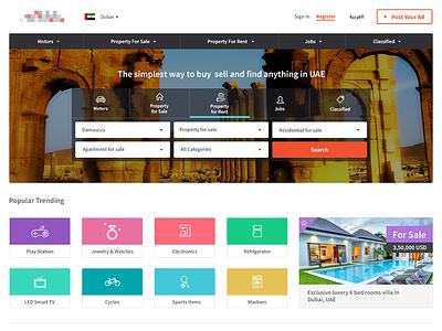 Classified Portal web app web design property finder portal classified ux ui