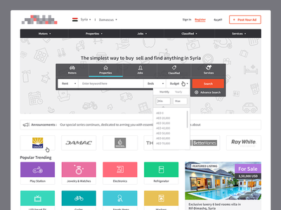 Classified Portal services property jobs post ad portal classified sell buy web design ux ui