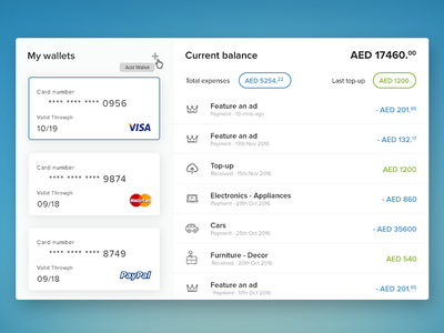 My Wallets Expenses psd resource free currency debit credit card transactions money expenses wallet