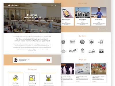 Infotouch - Software House layout case studies agency software house it business gcc web design ux ui