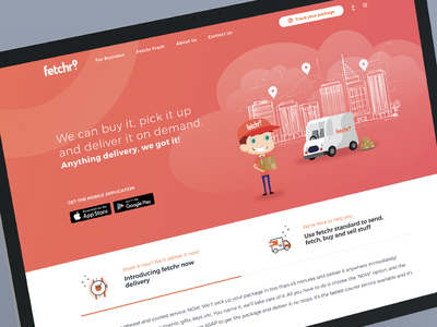 Fetchr mail delivery graphics app web dubai gcc ui brand delivery shipping fetchr