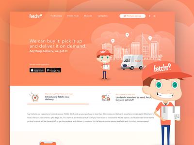 Fetchr Shipping Company graphics app web dubai uae gcc ui brand delivery shipping fetchr