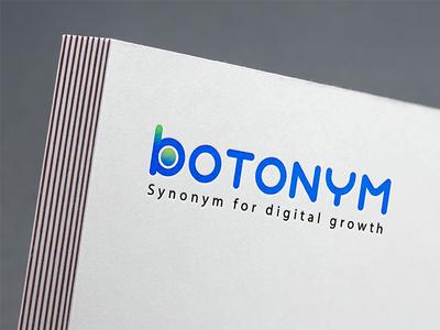 Botonym Logo seo design agency marketing media digital bot botonym