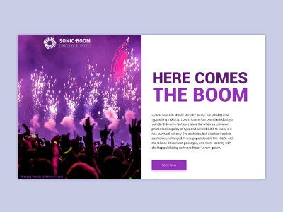 Sonic Boom minimal flat vector wordpress theme record studio wordpress design