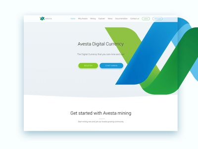 Avesta Home branding front page minimal ux  ui flat clean design logo crypto exchange cryptocurrency wordpress web design design