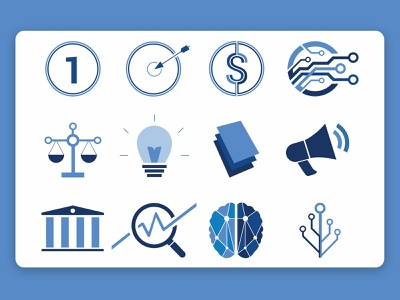 Token Time Icons blue ui icon illustrator web design minimal flat vector illustration design