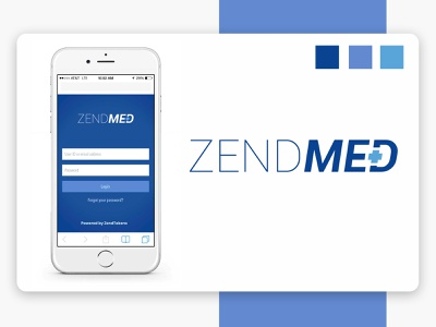 Zendmed illustrator ui prototype application minimal flat vector logo illustration branding design