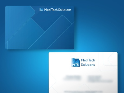business cards med tech solutions illustrator minimal flat vector logo illustration branding design