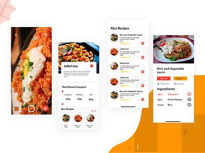 Shazam for food? iphone x food ui design