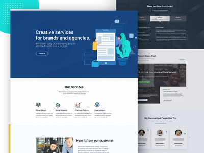 Startup & SaaS Landing Page mockup trending ui design psd multipurpose theme creative theme business template agency saas