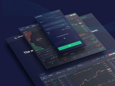 Cryptocurrency Trading Dashboard UI KIT dashboad trading mining bitcoin illustration ico consulting currency exchange cryptocurrency