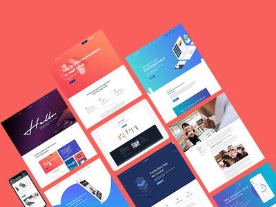 Creative Landing Page psd template psd professional portfolio multipurpose modern minimal elegant creative corporate business apps agency