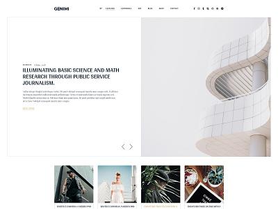 Landing Page minimal blog news template website concept blog design