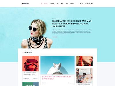 Landing Page illustration corporate business blog news web deisgn creative  design minimal blog