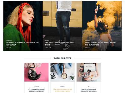Magazine Landing Page creative corporate business website concept landing page news magazine design