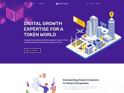 Bitcoin and Cryptocurrency PSD Template business agency illustration creative design cryptocurrency bitcoin