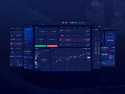 Cryptocurrency Trading Dashboard dashboard forex ico agency business web design chart trading wallet currency exchange cryptocurrency bitcoin