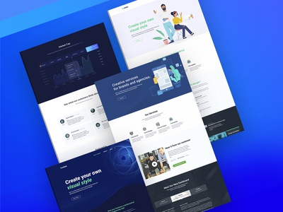 ICO Landing Page design ico agency agency website landing page