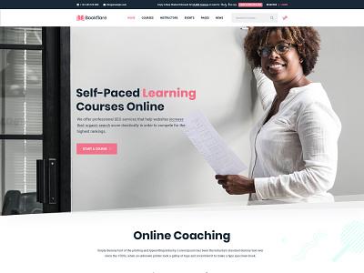 Landing Page lms university school collage course education corporate business