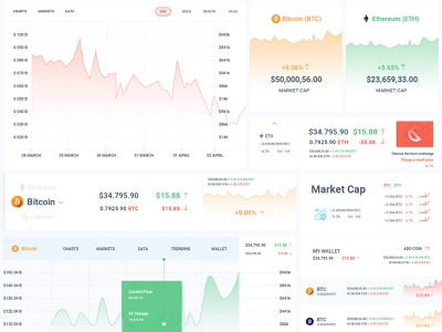 Cryptocurrency Trading Dashboard ico agency currency exchange business blockchain crypto bitcoin trading cryptocurrency