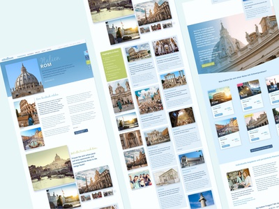 further pages for website website concept website layout travel agency webdesign