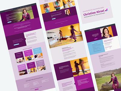 Website for psycho therapist therapist logotype branding website layout website concept website design