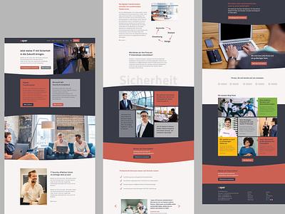Website Design for IT Company website strategy ui website concept sketch website layout website design webdesign