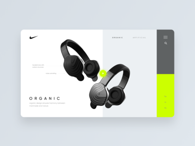 Nike Organic Headphones - Desktop Concept