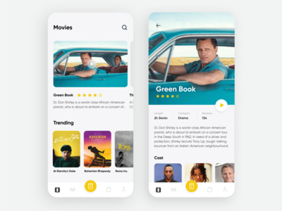 Cinema App - Mobile Concept