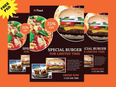 Food Restaurant Flyer Psd Free flyer freebies flyerpsd flyerdesign foodapp restaurant flyer restaurant food