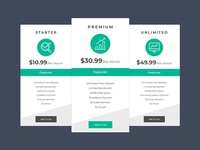 Free Pricing Table Template PSD