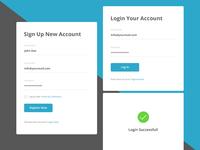 Form UI Kit PSD Free