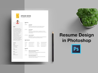 Free CV Resume Template in Photoshop PSD