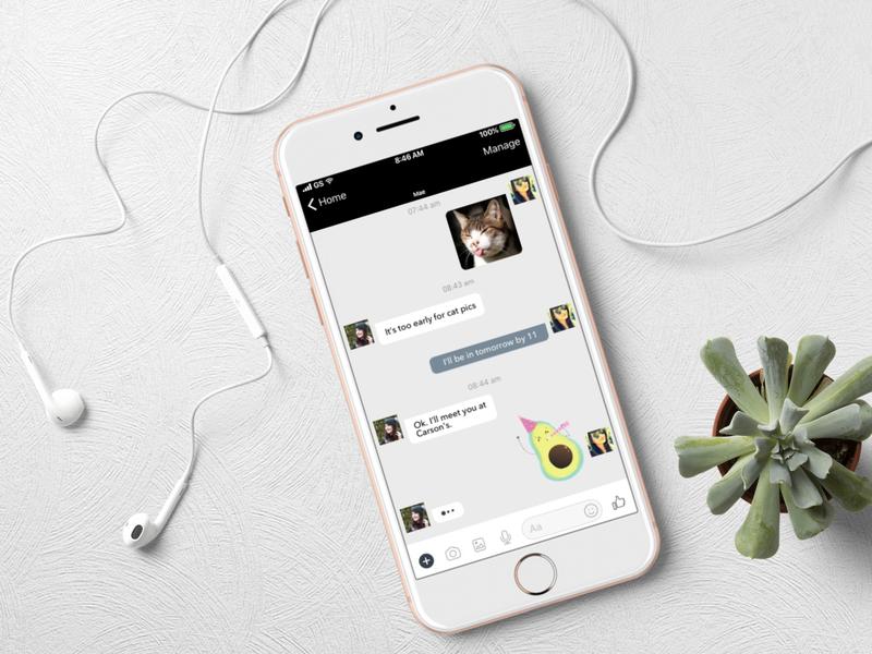 Direct Messaging ui digitalillustration app design illustration daily 100 challenge