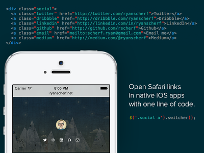 Switcher jquery plugin ios mobile safari javascript