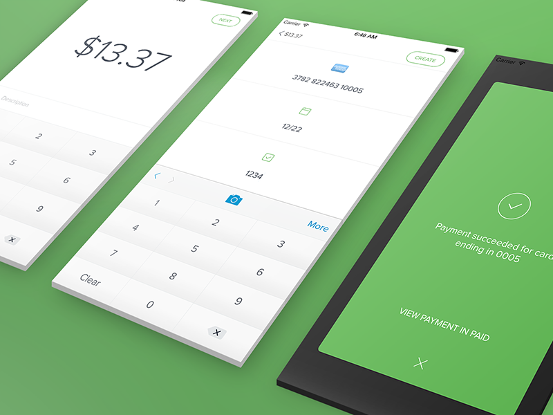 Payment for Stripe ui ios credit card payment stripe view keypad button modal simple