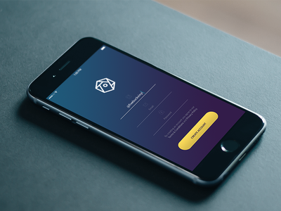 Signup ios signup form button clean gradient iphone iphone 6 minimal saturated