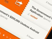 HN Reader App (UI v2)